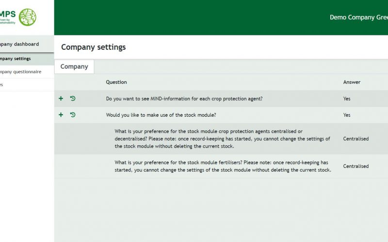 How to fill in the company settings and questionnaires